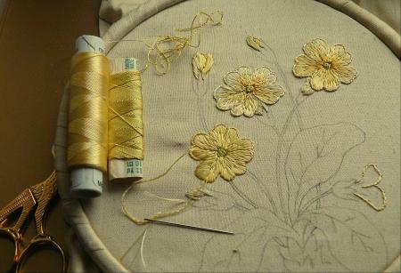 Primrose in Silk 2 - petals